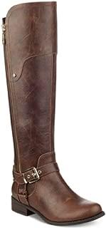 HARSON Tall Boots Wide Calf Dark Brown Size 5M