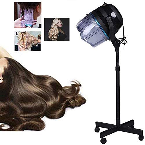 LAW 1100W Casque Sèche Cheveux sur Pied Casque Sechoir Hauteur Réglable Outil pour Salon De Coiffure Maison Spa avec Minuterie 0-60 Min