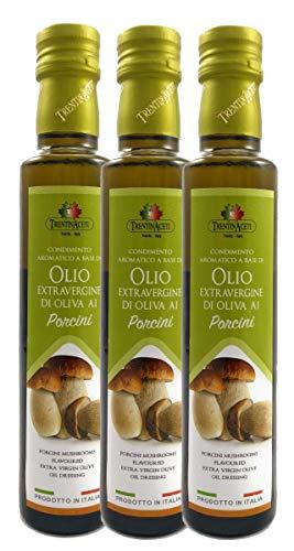 Extra Natives Olivenöl mit natürlichen Steinpilzaroma - 3x250 ml - Italienisches Steinpilz Olivenöl in höchster Qualität - TrentinAceti - kaltgepresst