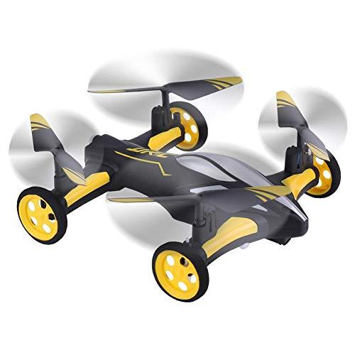 RC Drone Quadcopter, Luft-Land Fliegendes Auto, mit LED 6 Achse Gyro Winddicht 2,4 GHz Kraftvoll Fernbedienung Spielzeug(Gelb)