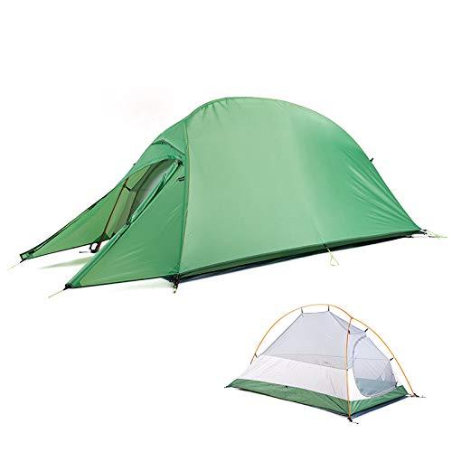 Tents escamotable extérieure imperméable 1 Homme Etanche à 4000 mm, Installation Facile avec Porch Trail Idéal pour Le Camping, Les Voyages en Solo, Les Festivals