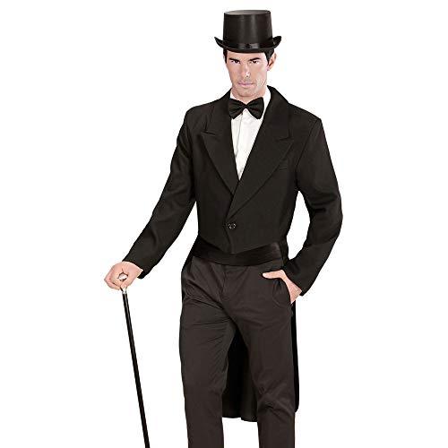 Widmann 59033 – Herrenfrack, schwarz, Kleidungsstück, Kavalier, Show Man, Hochzeit, Silvester, Oberteil, verschiedene Größen, Motto Party, Junggesellenabschied, Karneval