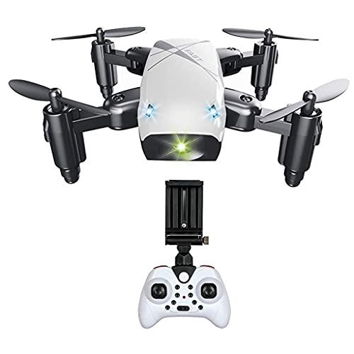 zmigrapddn Drone S9 con cámara 2.4G Quadcopter Plegable Mini RC Drone, Accesorios de Repuesto RC ( Color : White with Camera )