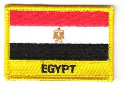 Flaggen Aufnäher Patch Ägypten Schrift Fahne NEU by FahnenMax®