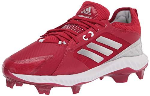 adidas Women's FV9045 Baseball Shoe, Power Red/Silver/White, 9