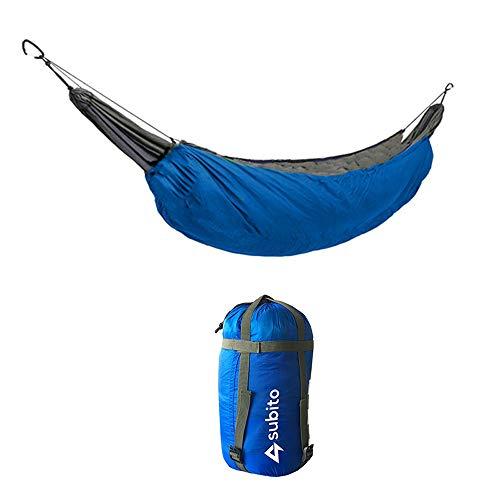 Lixada Ultra-léger Camping en Plein Air Hamac Coupe-Vent Couverture Chaude Portable Hiver sous Couette Couverture Coton Hamac