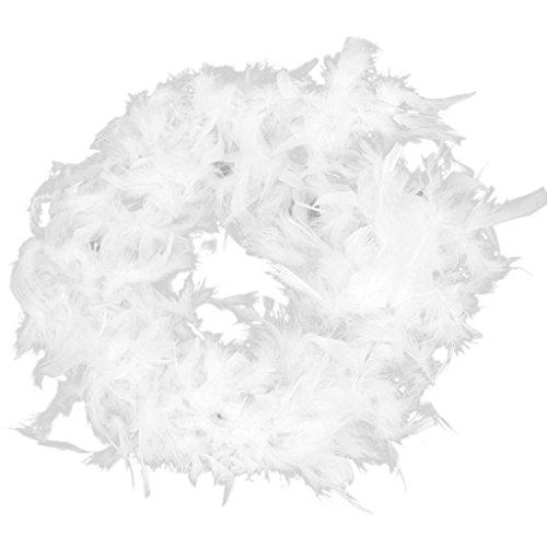 Generic 2m Plume Boa Moelleux Appliques à Coudre pour Décoration Chapeau Costume Artisanat Diy - Blanc