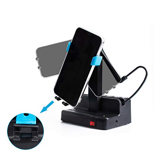 Seltureone Handyschaukel Kompatibel für Pokemon GO Plus Steps Counter Zubehör,Schritte Verdienen Handy Schrittzähler,Automatisch Phone Shaker (kein Magnet, kein Gummiband,Stummschaltung)-Blau
