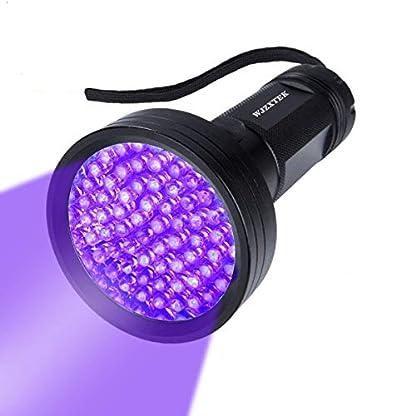 UV Flashlight Black Light, WJZXTEK 68 LED 395nm Ultraviolet Blacklight Detector for Dog Urine,Dry Stains,Bed Bug, Matching with Pet Odor Eliminator(Batteries Not Included) 1