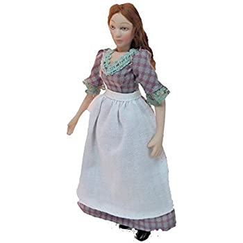 Dolls House Undressed Lady Woman Porcelain Doll with Bun Miniature People