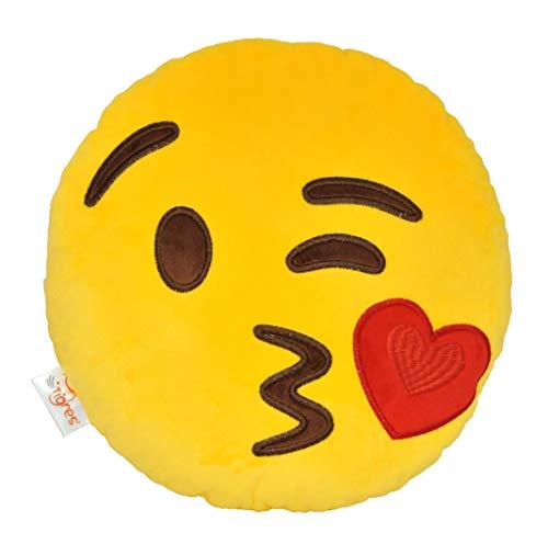 "Pillow - Emoji ""Kiss"", Tigres"