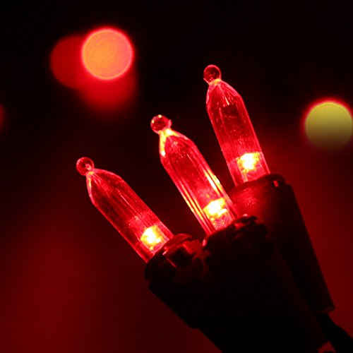 Brizled LED Christmas Lights Mini String Lights 120V UL Certified for Indoor and Outdoor Decorations Patios and Christmas Tree Red