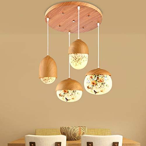 LLT Útil Lámpara de Araña Lámpara de Lámpara Cristales de Techo Restaurante 4-Cabeza Personalidad Creativa Nórdico Moderno Minimalista Arte Lámpara Colgante