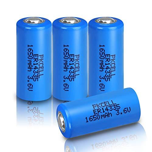 4 PZ PKCELL 3.6 V 2/3AA liSOCL2 Batteria Al Litio Cell ER14335 14335 1600 mah PCL Secco Batteria Primaria per Smart Meter