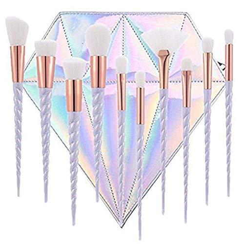 LAAT 10 PCs de Pinceles de Maquillaje Forma de Sirena Kit de...