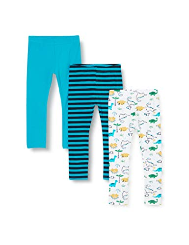 Name IT NOS baby-boys NBMLEGGING 3P HAWAIIAN OCEAN NOOS Leggings, 74