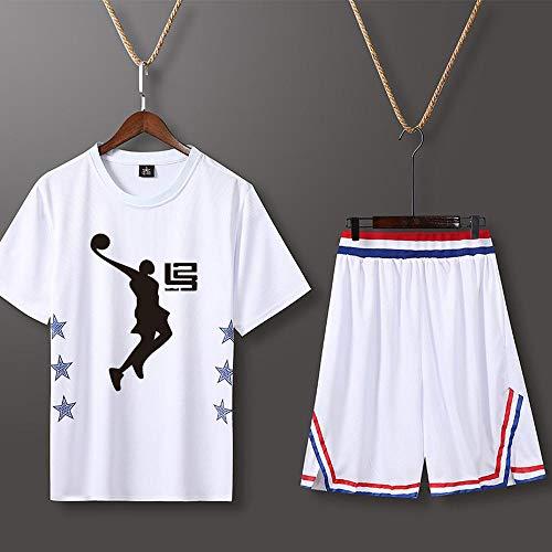 LHDDD NBA Baloncesto Uniformes Trajes Personalizados de Entrenamiento de Secado rápido, Trajes de competición Uniformes universitarios Sudadera Transpirable Camiseta Deportiva de Verano Custom 1-XXXL