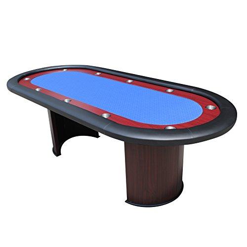 IDS Online 96' Luna Poker Table Blue