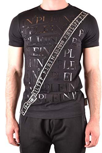 Philipp Plein Luxury Fashion Herren S19CMTK3031PJY002N02 Schwarz Baumwolle T-Shirt | Jahreszeit Outlet