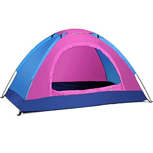 Double Couche Dôme Tente Tente, vitesse en tissu Oxford ouvert tente en plein air, loisirs 2 personne moustiques portable camp d'escalade filet simple couche tente extérieure 200 * 120 * 110cm