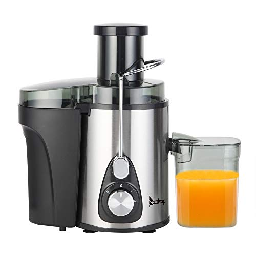 Gimify Juicer Machines, Gimify Electric Juice Extractor Lemon Squeezed 600W Quiet Motor, 75MM Large Feed Chute, 3 Adjustable Speed, Stainless Steel for Whole Fruit Vegetable Orange Citrus, Large