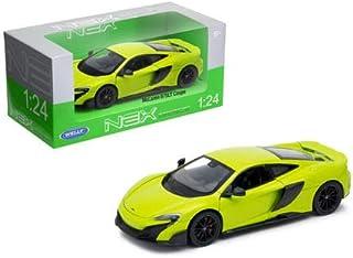 Welly Die-Cast Toys Car 1: 24 W/B - McLaren 675Lt Coupe (Green) 24089W-Grn