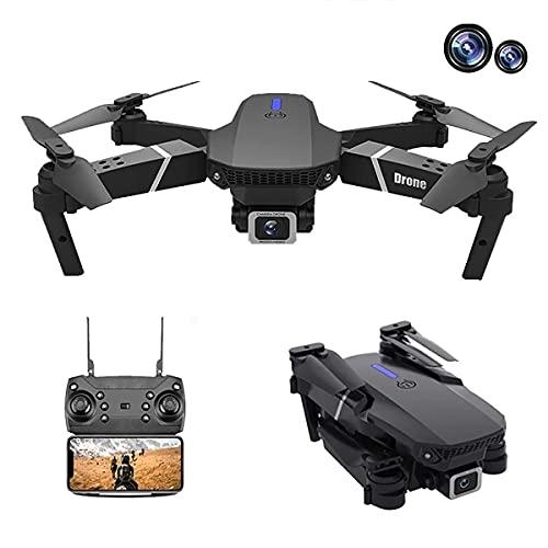JJDSN Drone con Doppia Fotocamera 4k, Drone Pieghevole per Bambini e Adulti, Elicottero a Quattro Assi Adatto per Principianti, Mantenimento dell'altezza, seguimi, Ragazzo Ragazza e Regalo giocatt