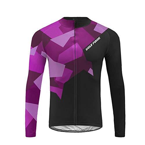 Uglyfrog MTB Bici Magliette Invernale Uomo Maglia Ciclismo Manica Lunga Camicia MTB per Corsa Bici Strada IT19LZR03