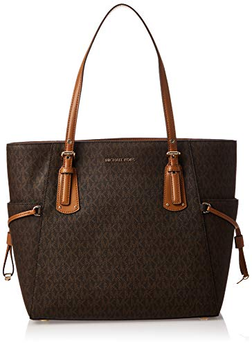 MICHAEL Michael Kors Voyager East/West Signature Tote, Brown