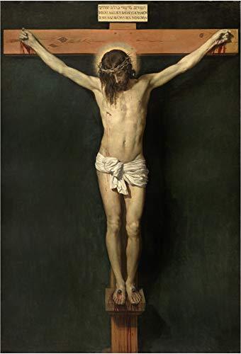 """Cartel del Museo del Prado """"Cristo crucificado-Velázquez"""""""