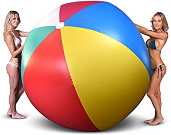 GoFloats 6-foot Giant Inflatable Beach Ball with Patch Repair Kit
