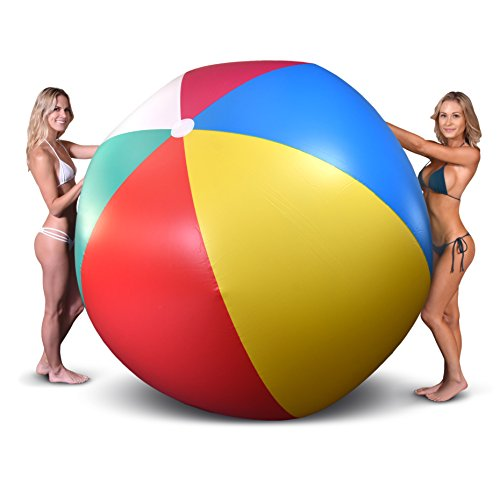 GoFloats 6' Giant Inflatable Beach Ball, Extra Large Jumbo Beach Ball | Patch Kit Included