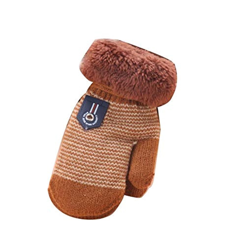 Yunskynomise冬の快適な厚みのビロードの幼児女の赤ちゃんの少年は、ソリッドカラーの屋外旅行フリース手袋ユニークのウォーム手袋をしてください