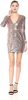 Glamorous womens Sequin Deep V Dress Dress