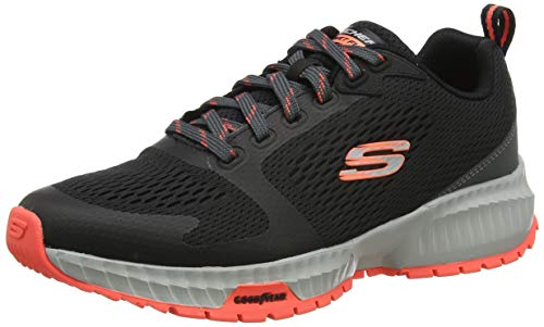 Skechers Street Flex Eliminator, Zapatillas para Caminar Hombre, BKRD, 44 EU