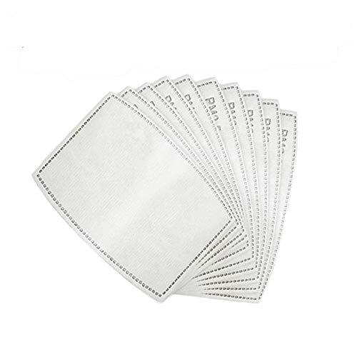 100 (pezzi) - Cartuccia filtro di ricambio PM2.5 inserto in carta filtro a carbone attivo 5 strati di tessuto filtrante filtro antiappannamento sostituibile