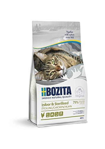 Bozita Indoor & Sterilised - Cibo Secco per Gatti Adulti Soprattutto al Chiuso, 0,4 kg