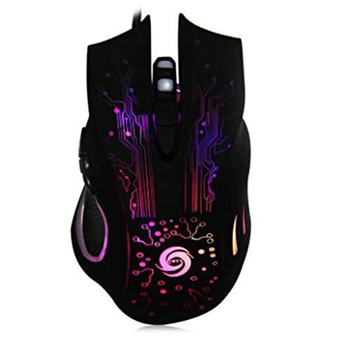 weichuang Ergonomische Maus, professionell, 3200 dpi, 6 Tasten, Gamer, verstellbar, optisch, USB,...