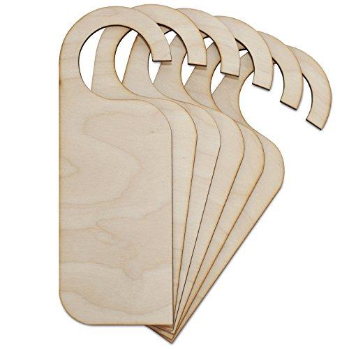 Creative Deco 10 x Türschild aus Sperr-Holz | Türhänger in Größe von 20 cm x 6-8 cm | Sperrholz-Ausschnitt | Wendeschild ohne Gravur| Perfekt als Dekoschild und für Decoupage, Bemalen & Laserschnitt