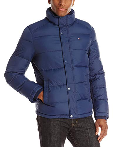 Tommy Hilfiger Men's Classic Puffer Jacket (Standard and Big & Tall), Navy, Large