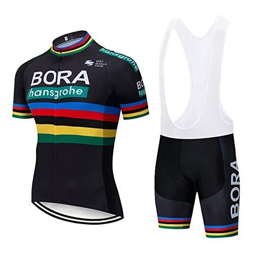 EDMRIK - Tuta estiva da ciclismo, a maniche corte, con cuscino in gel 5D per ciclisti e abbigliamento da bicicletta, traspirante, ad asciugatura rapida