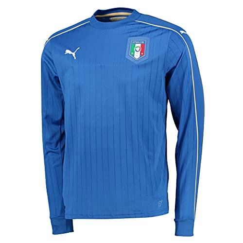 Puma Figc Italia Home - Camiseta de manga larga para hombre - 748832, S, Azul/Blanco(Team Power Blue/white)