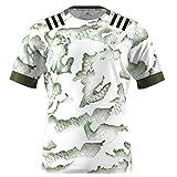 DW007 Maillot Rugby New Zealand Highlanders 2021 Vêtements D'entraînement De Rugby pour Hommes, Maillot De Rugby À Manches Courtes Pro, pour Mari Ou Fils,Vert,XXL