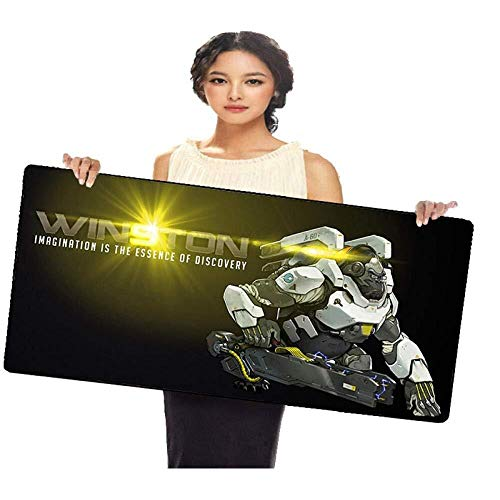 WYQLZ Gaming Mouse Pad Overwatch OW Winston Game Large Mouse Mat Keyboard Mat Cafe Mat Extended Mousepad for Computer Desktop PC Mouse Pad (Color : Winston, Size : 9004003mm)