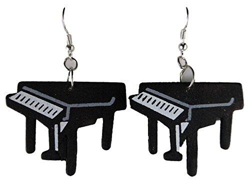 Ohrringe Ohrhänger Hänger Holz Flügel Musik Instrument Konzert Klavier Piano 6224