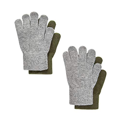 Celavi Unisex Kinder Magic Gloves Handschuhe, Military Olive, 7