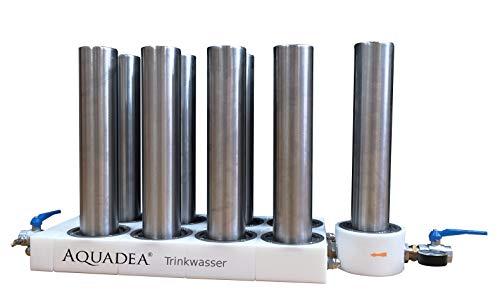 Hausfilter Anlage Villa P8 Aquadea Reiser mit 8 Aktivkohleblock Patronen 0,3 μ | perfekt gefiltertes Wasser im gesamten Haus | entfernt Pestizide, Keime, Medikamente, Rattengift etc. bis 99,9%