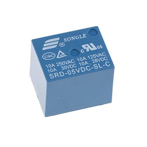 Songle 5 VDC Household Appliance 5 Pin PCB Relay SRD-05VDC-SL-C 1 Piece