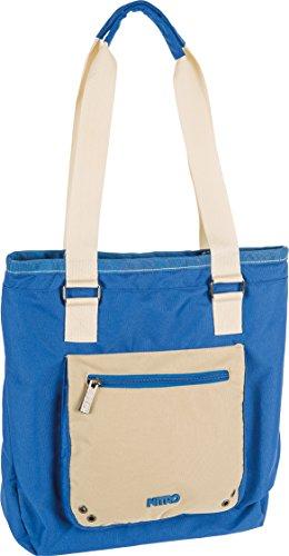Nitro Snowboards Tote Bag stylischer Shopper mit Reißverschluss, leichte Damen Strandtasche Schultasche Reisetasche Umhängetasche Handtasche, 11 L, 400g, 1131-878005_Blue Khaki