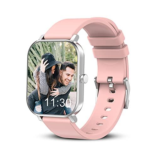 Smartwatch, Smartwatch Uomo Donna Orologio Fitness Tracker, touch screen 1,69 , frequenza cardiaca, monitoraggio del sonno, contapassi, promemoria chiamate (Rosa)